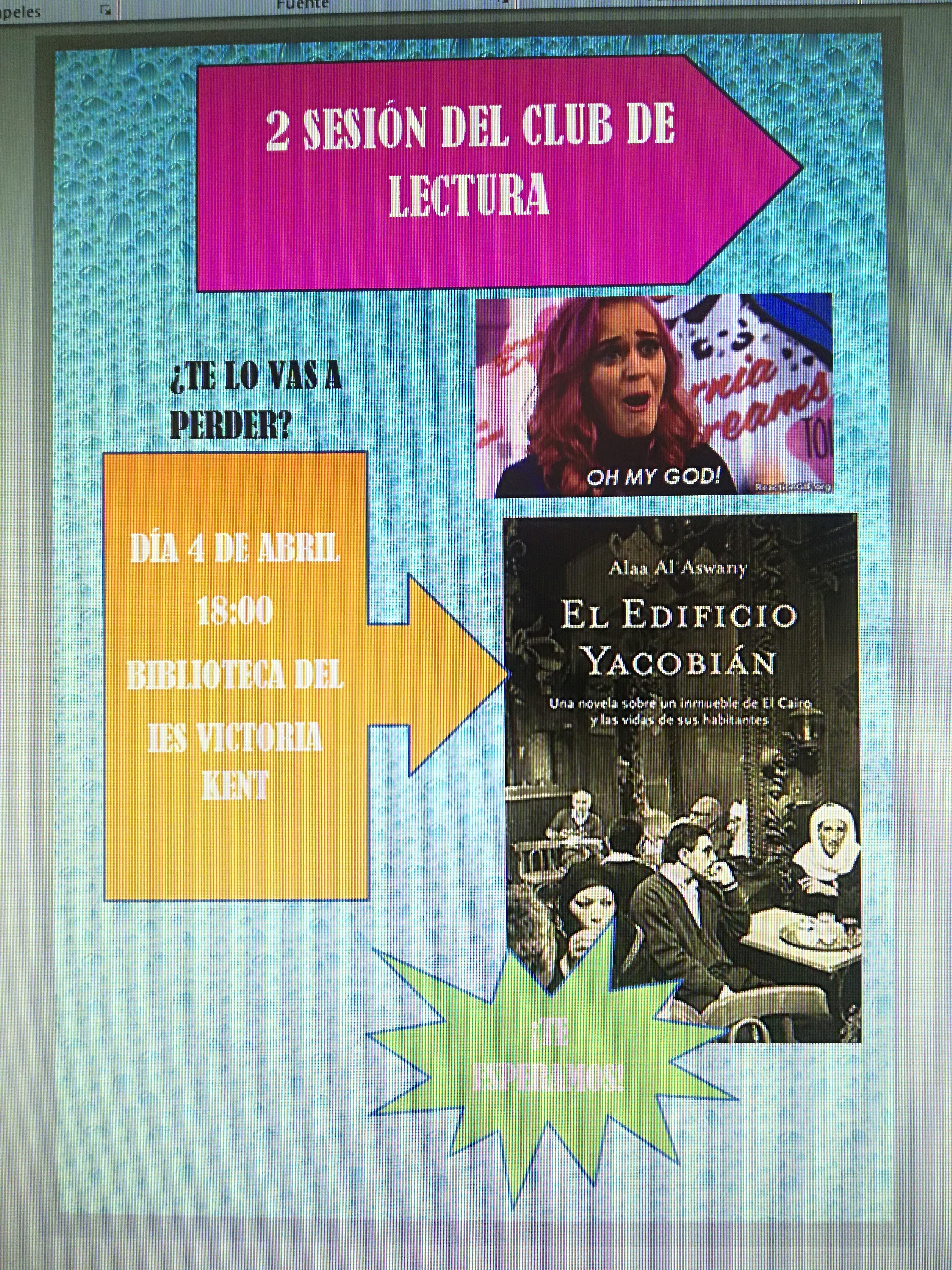 cartel del club de lectura
